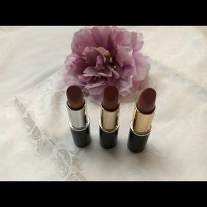 Lancome lipsticks and makeup bag